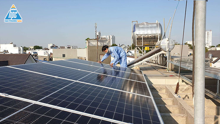 Hạo Phương Solar lắp đặt điện mặt trời hòa lưới 5KWP cho khách hàng tại Thủ Đức